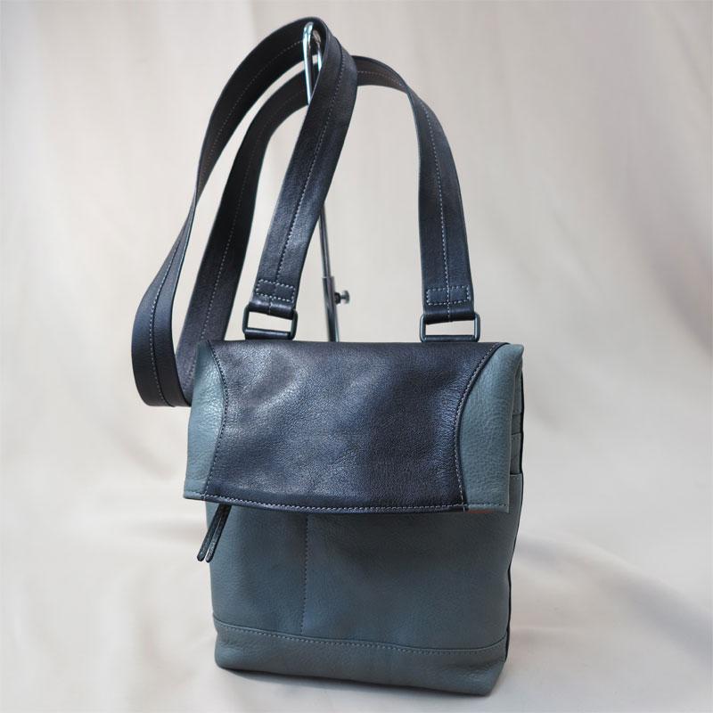 ツートンカラーのオーダー革バッグ