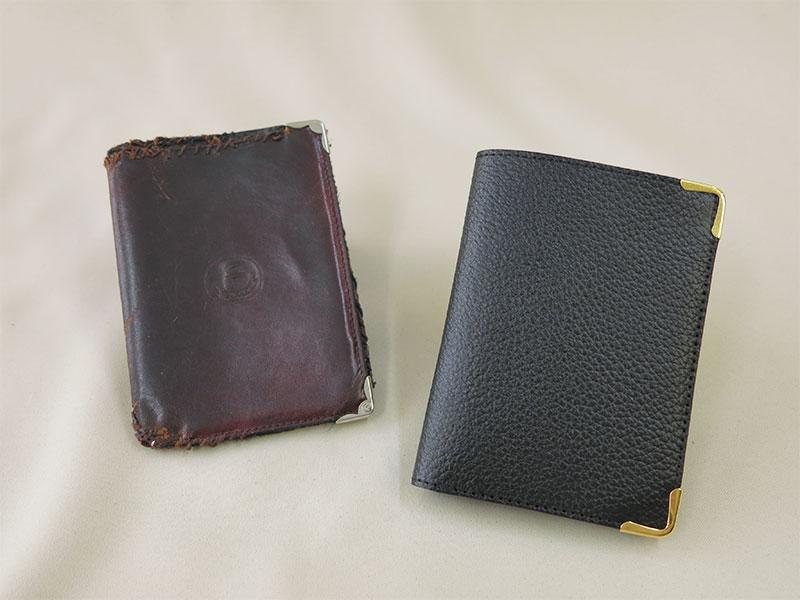 見本からのオーダー財布