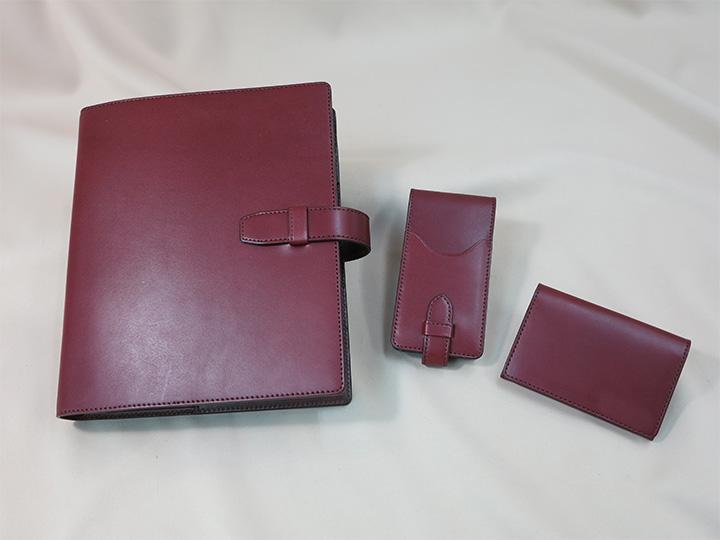 A5システム手帳と革小物