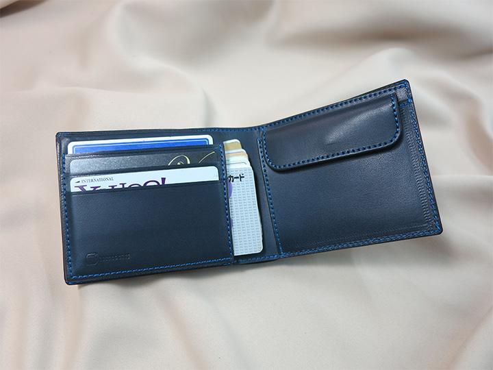 二つ折り財布見開き